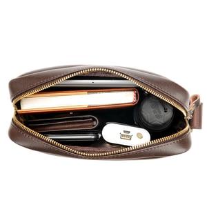 Image 5 - Новинка 2020, мужская сумка мессенджер, мужские маленькие кожаные сумки на плечо, мужская повседневная мини сумка с клапаном, мужские деловые сумки мессенджеры для IPAD