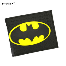 FVIP The Batman Wallet  DC Comics Purse for Young People Students Gift Free Shipping(China)