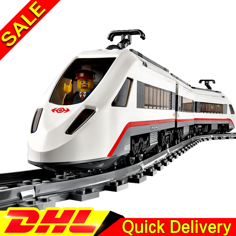Lepin 02010 610Pcs Creator Kits The High-speed Passenger Train Remote-control Trucks Set Building Blocks Bricks Toys Clone 60051 lepin 02010 610pcs city series building blocks rc high speed passenger train education bricks toys for children christmas gifts
