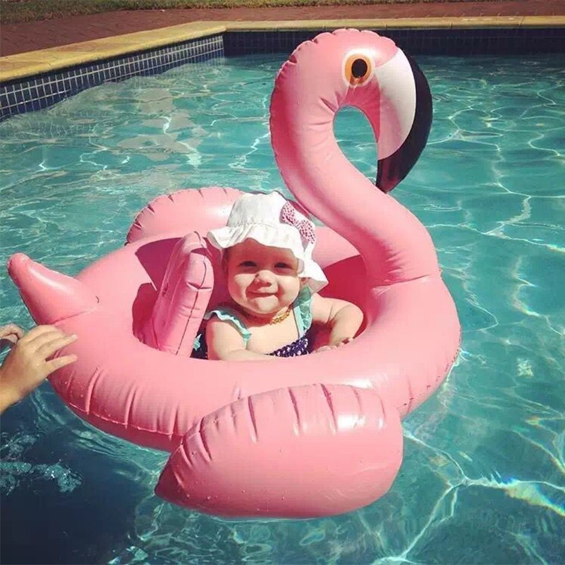 Rooxin Baby Swimming Ring Flamingo Swan Inflatable Swimming Pool Float Baby Seat Boat Kids Summer Water Fun Pool Toys