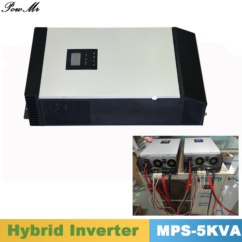 5000VA 4000W Pure Sine Wave Hybrid Inverter Parallel Kit Inside 48VDC Input 220VAC Output with MPPT Solar Charger Controller micro inverters on grid tie with mppt function 600w home solar system dc22 50v input to ac output for countries standard use