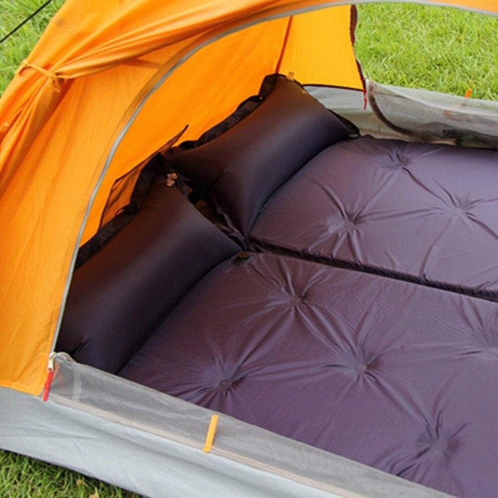 barracas exteriores inflaveis automaticas do coxim da almofada sacos de dormir e esteiras o coxim engrossado