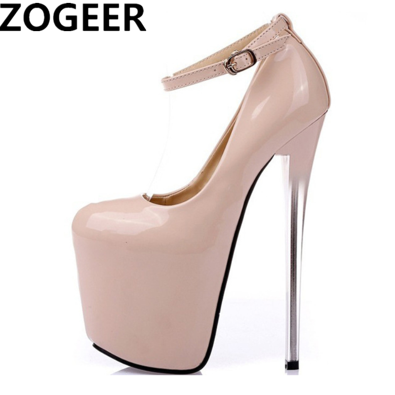 a898f7584d31 Plus Size 47 Fashion Women Pumps Height Platform Extreme High Heels 16CM  Nightclub Evening Party Wedding