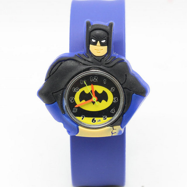 HOT Sale slap watches 3D Kid Cartoon watches Batman children High quality slap w