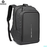 Ozuko Canvas Shoulder Bag anti theft backpack multi function