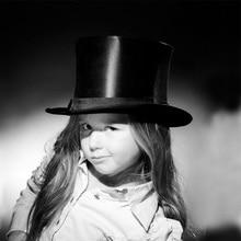 dc8e5ca69f2245 2017 Black Top Hat Child Steampunk Hat handmade Kids Vintage Boy girl  Traditional Wool Fedoras Hat