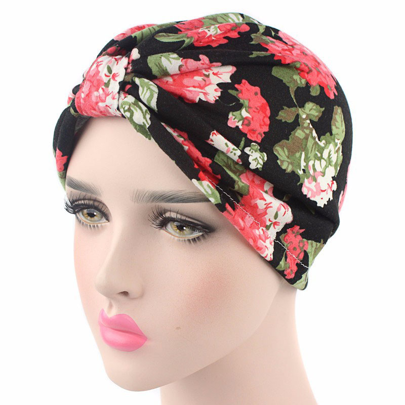 Women Hat 2017 New Printing Stretch Cotton India Hats Turban Cap Europe And the United States Hot Sale Beanies Head scarf