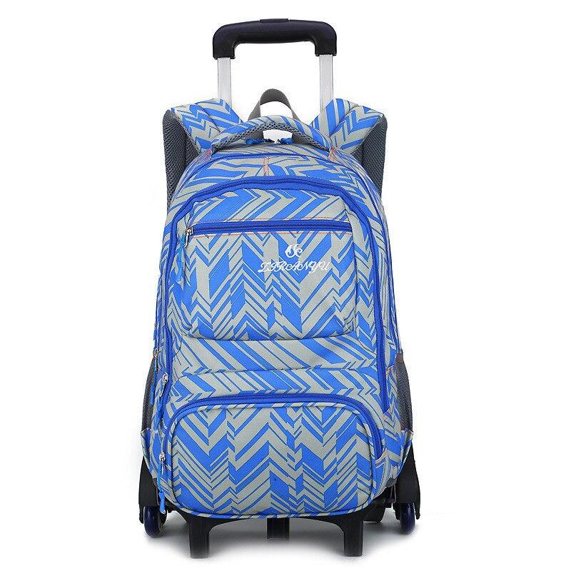 Wheeled School Backpack Wheels Kids Travel Trolley Bag Schoolbag Children School Bags For Boys Girls Detachable Mochila Escolar