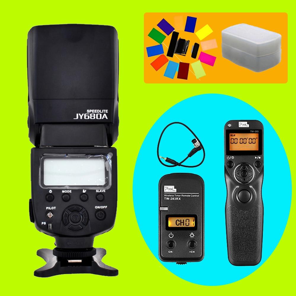 Viltrox JY-680A Flash Speedlite & Pixel TW-283 DC0 Timer Remote Control For Nikon D700 D300S D810 D200 D3 D300 D800 D3S D1 D810