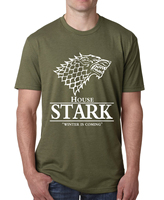 2016 Men Game Of Thrones T Shirt House Stark Winter Is Coming Printed Summer Style Tees