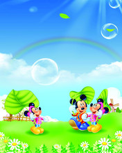 5x7ft  Vinyl Backdrops for Photography Mickey Mouse Photo Studio Background NML-1042