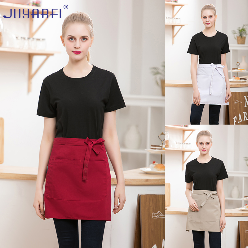 2019 New Summer Unisex Canvas Family Apron Hotel Restaurant Chef Apron Cafeteria Cafe Grill Canteen Staff Work Half-length Apron