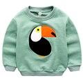 Primavera crianças dos desenhos animados caráter pássaro clothing crianças hoodies 100% algodão infantil do bebê das meninas dos meninos tops moletons roupas blusas