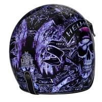 HOT 3/4 retro vintage helmet open helmets cascos capacetes helmet motorcycle helmets shields can add bubble visor Helmets     -
