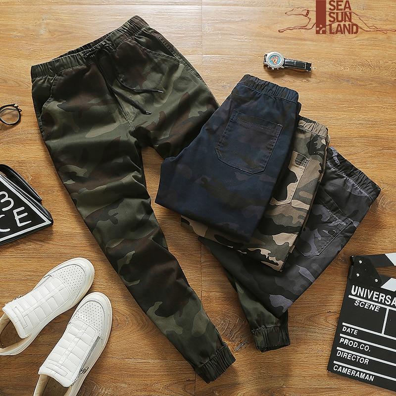 d9ee175e2d8 SeaSunLand Mens Jogger Autumn Pencil Harem Pants Men Camouflage Military  Pants 4XL Loose Comfortable Cargo Trousers Camo Joggers