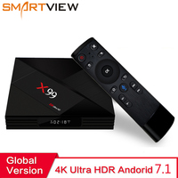 4GB/32GB X99 Smart Android TV Box Rockchip RK3399 with Voice Remote 2.4G/5G WiFi USB3.0 4K 60fps Streaming TVBox Media Player