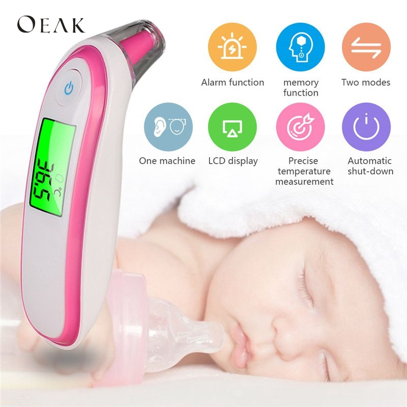 Thermometers Baby Care Shujin Medical Ear Infrared Thermometer Adult Baby Body Fever Temperature Measurement High Accurate Family Health Care