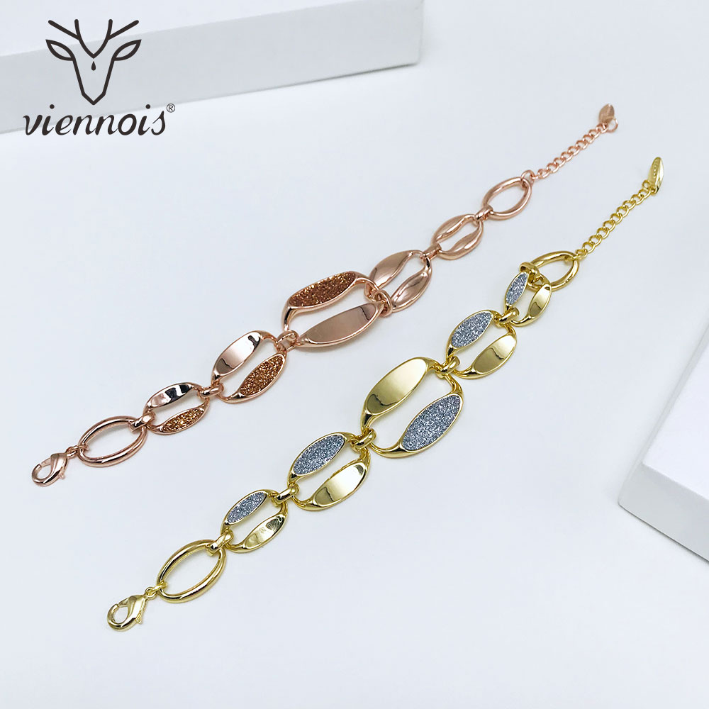 Viennois Bracelet Bangles Wedding-Jewelry Shining Women Rose-Gold/gold-Color for Chain
