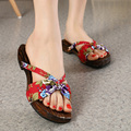 women Cosplay GETA Japanese SAMURAI Clogs Wood Sandals clog shoes flat wood heel square toe shoes summer plank slippers sandals