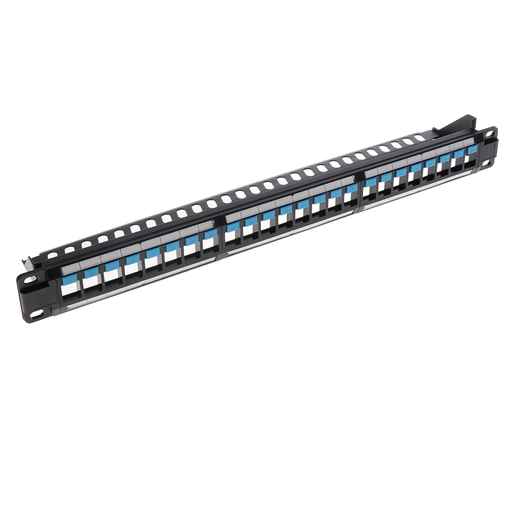 Thickened Unshielded Keystone Jack 24-Port Patch Panel With Rear Cable For 19
