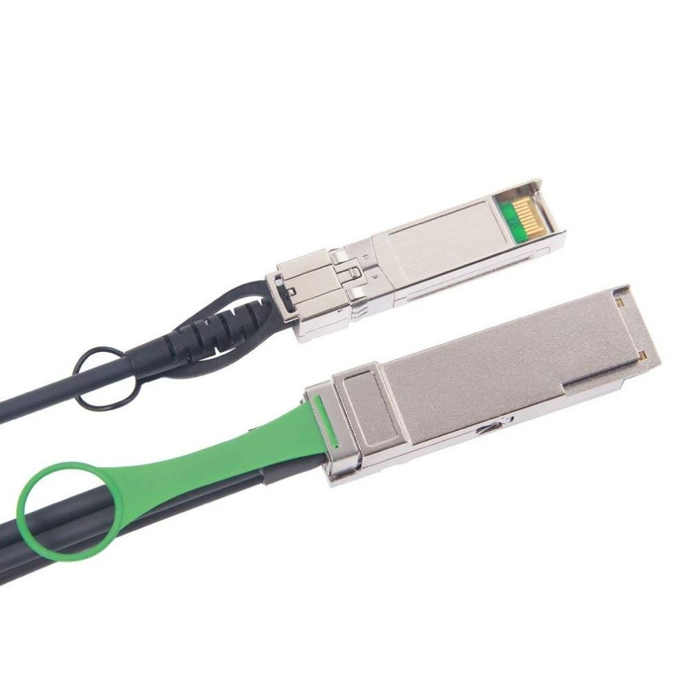 10Gtek для QSFP-4SFP10G-CU1M 1 метр 40Gb / s QSFP + да 4x - Камунікацыйнае абсталяванне - Фота 3