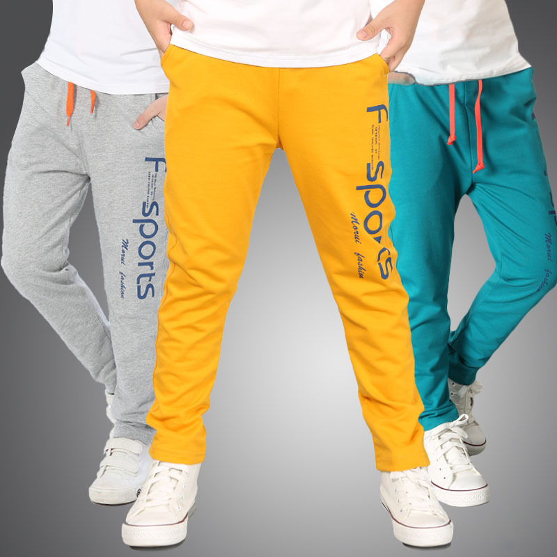 Boys Sweatpants Spring Autumn Long Sports Pants Boys Trousers Children Sweatpants 4-8 Years Kids Baby Boys Causual Pants striped side sweatpants