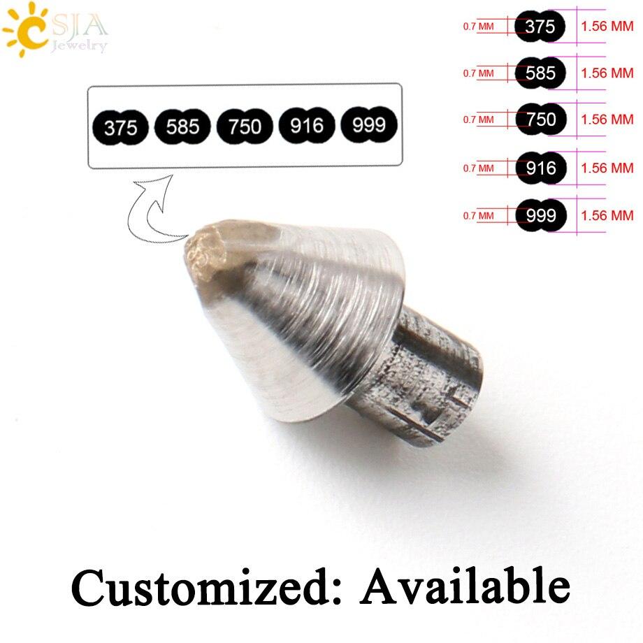 CSJA Brand New 375 585 750 916 999 Gold Jewelry Making Tool Stamp Print Metal Steel Mold Finger Rings Bangles Jewellery DIY E537 подвеска saturday fook jewellery 999 s990