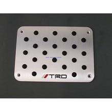 new aluminum floor mat pedal foot pedal pad for mitsubishi outlander pajero evo lancer ex asx Ralliart