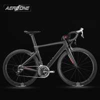 Leadnovo Complete Full Carbon Fiber Road Bike Racing Cycling T800 Carbono Fibre Frameset Black Red Color