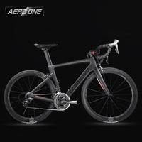 Leadnovo Complete Full Carbon Fiber Road Bike Racing Cycling T800 Carbono Fibre Frameset Black Red Color