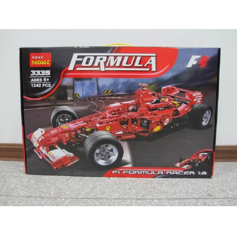 Decool Racing Car 1:8 Model 3335 1242 pcs action figure toys DIY Bricks speelgoed voor Kinderen legoing technic F1 set formule Ferrari-in Blokken van Speelgoed & Hobbies op  Groep 2