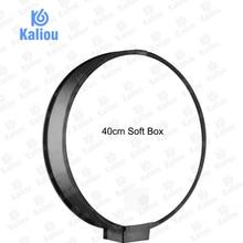 Kaliou 40 cm 라운드 범용 휴대용 스피드 라이트 소프트 박스 플래시 디퓨저 on top 소프트 박스 카메라 용