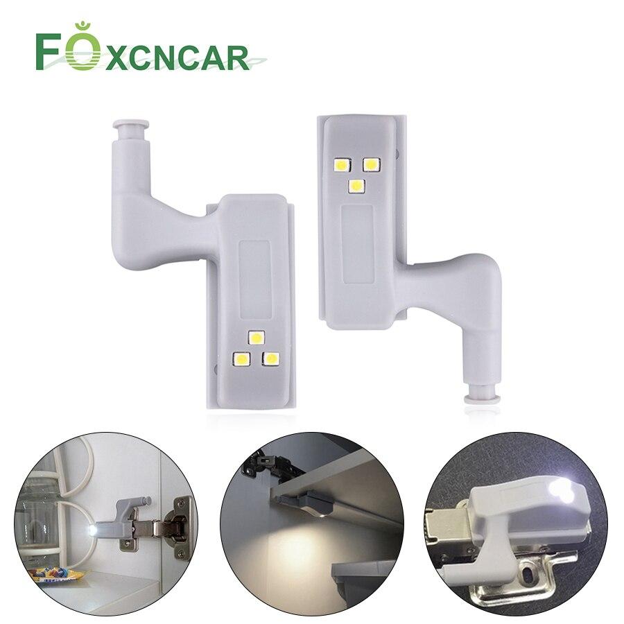 Foxcncar LED Under Cabinet Light LED Sensor Wardrobe Light Closet Lighting Kitchen Lamp Armario Luces Hinge Lamp For Cupboard
