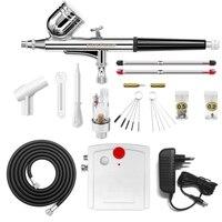 Gocheer Mini Dual Action Airbrush Compressor Set For Nails Kit Modeller Spray Airbrush Tool Cake Decoration
