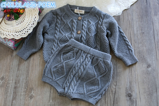 d253c21f07f7 Baby Clothing Set Spring 2018 Knitted Baby Clothes Long Sleeve ...