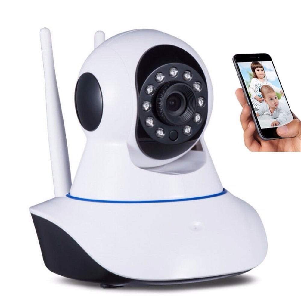 WiFi IP Camera Wireless Home Security Camera Pan Tilt HD 720P 2 way Audio Night Vision H.264 ONVIF Remote Alarm System 216PCS