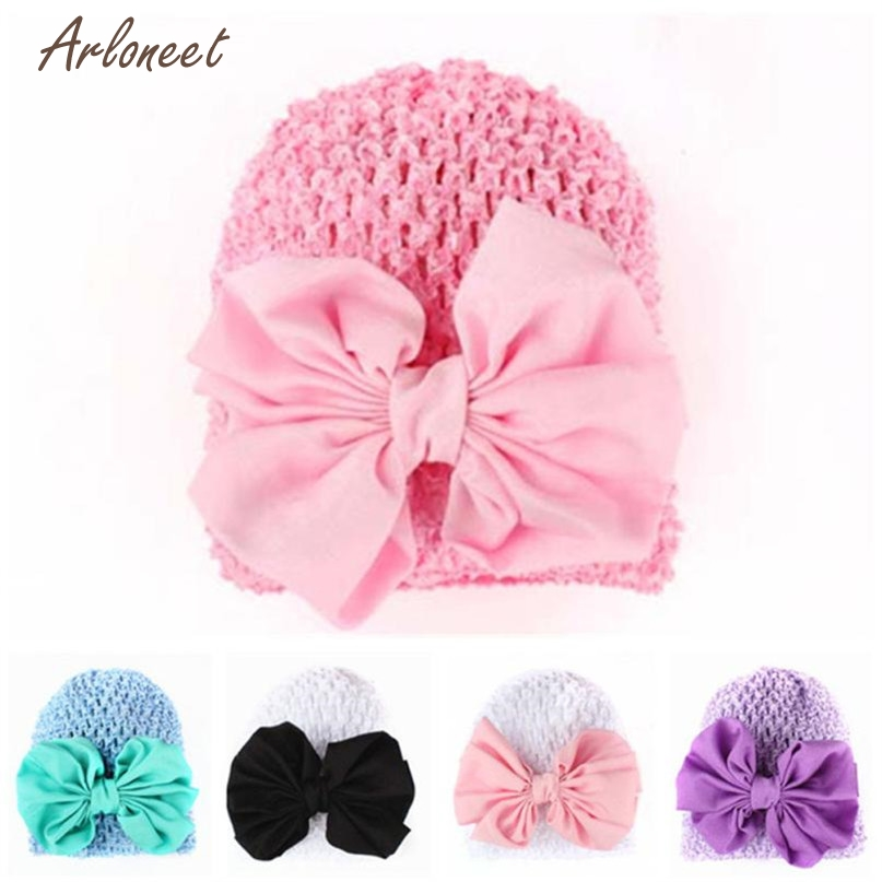 TELOTUNY Hats Caps Fashion Boys 5 Colors Infant font b Baby b font Girl Bowknot Hollow