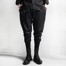 New Spring Autumn men harem pants fashion casual pants men new design high quality black mens punk rock boots pants K496