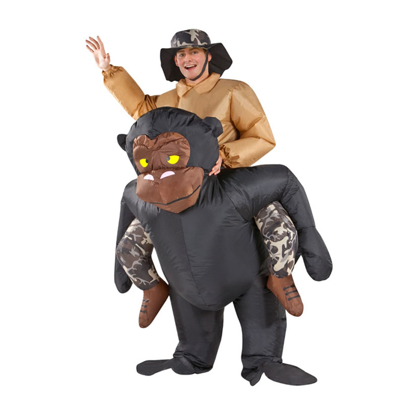 Inflatable Gorilla Costume Animal Themed Halloween Cosplay Costumes Purim Christmas Party Inflatable Suit for Women Men