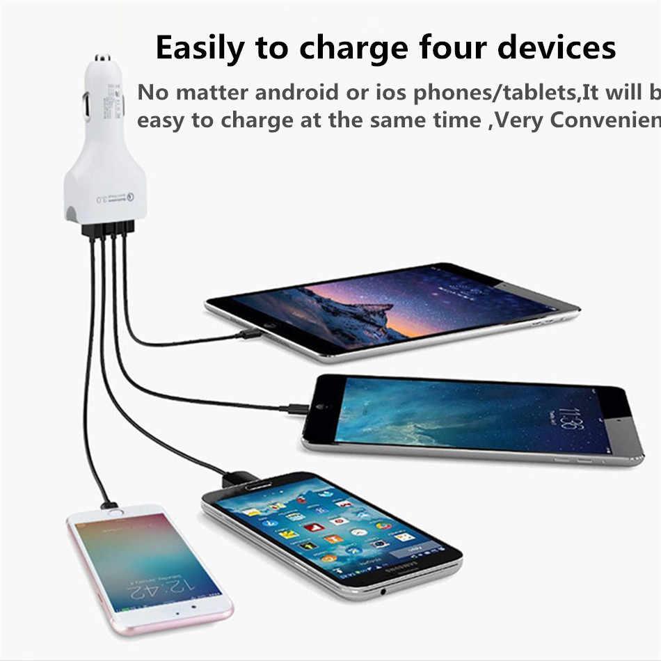 Vikefon Charger Cepat 3.0 Usb Charger Mobil Usb QC 3.0 Universal Mobil Ponsel Ponsel Cepat untuk iPhone Xiaomi Samsung Mobil -Charger