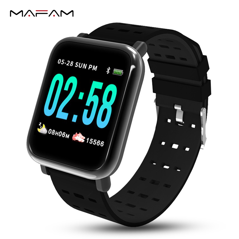 MAFAM A6 Mulheres Dos Homens do Relógio da Frequência Cardíaca Monitor de Pressão Arterial Inteligente À Prova D' Água Pulseira Smartwatch Relógio Inteligente IOS Android