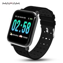 MAFAM A6 Smart Watch Men Women Heart Rate Monitor Blood Pressure Waterproof Smart Bracelet  Smartwatch Clock IOS Android