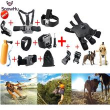 Gopro Accesorios Gopro Tripod Monopod El perro Perro Pecho Head Strap para go pro hero 4 3 + 2 xiaomi yi acción sjcam cámara GS22B