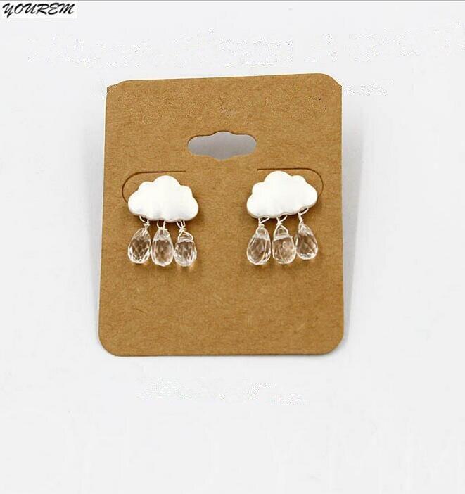 YOUREM Fashion cloud stud Earrings for womentrendy beads earrings girls gift nickel free drop ship ok alloy acrylic fj409