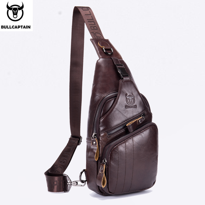 BULLCAPTAIN 2019 Genuine Leather Men Messenger Bag Casual Crossbody Bag Fashion Mens Handbag men chest bag Male Shoulder BagBULLCAPTAIN 2019 Genuine Leather Men Messenger Bag Casual Crossbody Bag Fashion Mens Handbag men chest bag Male Shoulder Bag