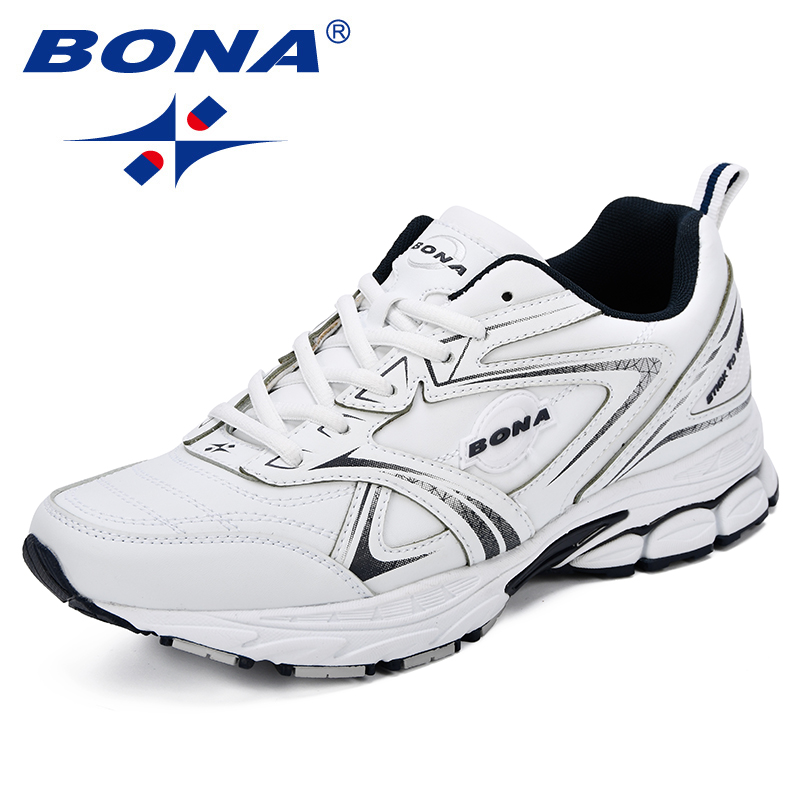 BONA New Classics Style Men Running Shoes Cow Split Microfiber Men Athletic Shoes Ourdoor Jogging Shoes Light Free Shipping