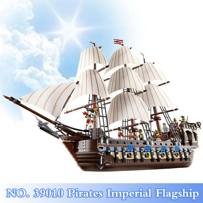 2018 New 1779Pcs Pirates Imperial Flagship Figures Series Building Blocks Bricks Set Children Toys Model Kits Compatible 10210 lepin 22001 pirates series the imperial flagship model building blocks set pirate ship legoings toys for children clone 10210