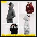 Бесплатная Доставка Мужская горячие продажа сплошной цвет спортивная кофты для пар Молния балахон хип-хоп/Пальто QR-2320
