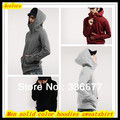 Free Shipping Mens hot sale solid color sportswear sweatshirts for couples Zipper hoodie hip hop /Coats QR-2320