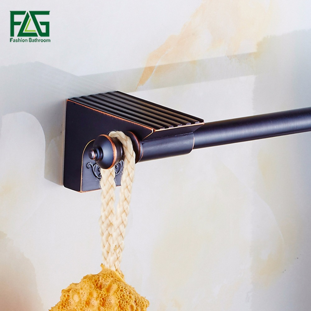 FLG Solid Brass Towel Bar,Towel Holder, Oil Rubbed Bronze,Wall Mounted Towel Hanger,Bath Products,Bathroom Accessories 81903 free ship beauty oil rubbed bronze bath towel rings soild brass towel bracket
